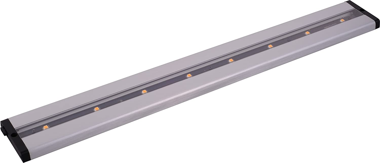 Maxim 89943AL CounterMax MX-L-LPC 24 8-Light LED Under Cabinet, Brushed Aluminum Finish, Clear Glass, Cree LED Bulb , 60W Max., Wet Safety Rating, Standard Dimmable, Glass Shade Material, 672 Rated Lumens
