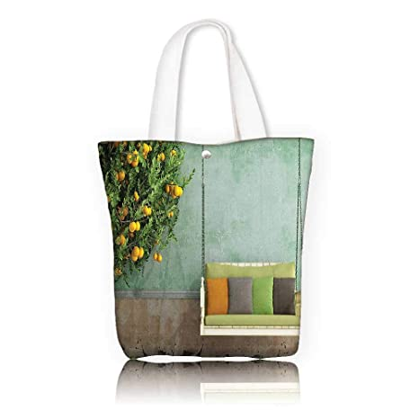 Stylish Canvas Zippered Tote Bag —W22 x H15.7 x D7 INCH Casual Top Handle  Bag Crossbody Shoulder Bag Purse Country Home Decor Vintage Wooden Swing in  the ... ce7b87dde3b4a