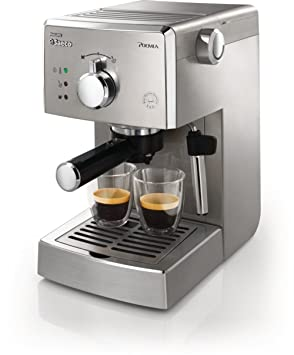 Saeco Manuelle Poemia Focus - Cafetera espresso manual, color plata: Amazon.es: Hogar