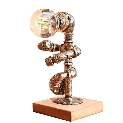 MUTANG Lámparas de Mesa industriales Vintage, lámpara de Mesa de ...