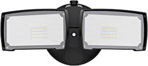 LEPOWER 3000LM LED Flood Light Outdoor, Switch Controlled LED Security Light, 28W Super Bright Exterior Lights with 2 Adjustable Head, 5500K, IP65 Waterproof for Garage, Yard, Patio(NO Motion Sensor)