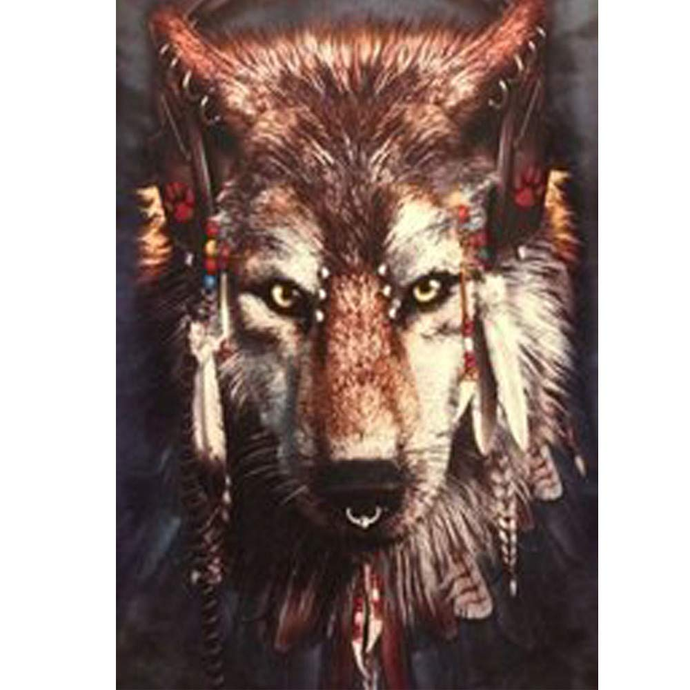 Onefa 5D Diamond Painting,Tiger Animals Drill 5D Embroidery Paintings Rhinestone Pasted DIY Diamond Painting Cross Stitch,Wolf Horse Owl Butterfly Landscape