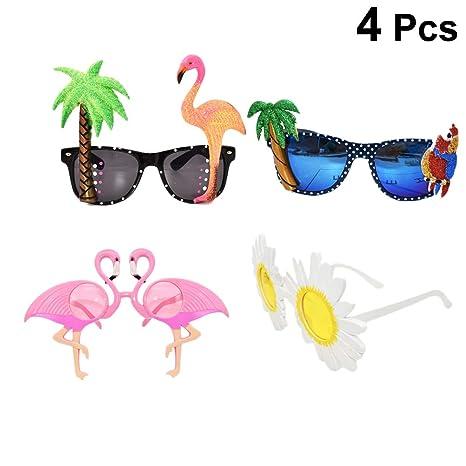 Amosfun 4 unids Gafas Sol de Flamingo Hawaiana Tropical Luau ...