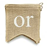 dealzEpic BOY OR GIRL - Rustic Burlap Banners for Baby Shower or Gender Reveal Party Decoration - Swallowtail Shaped Banners with Stitched Edges