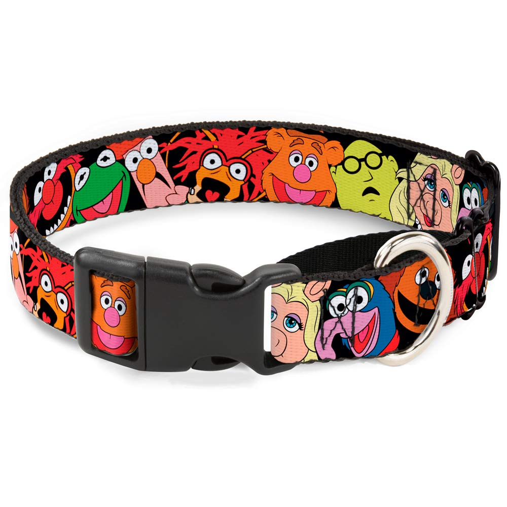 Buckle-Down Martingale Dog Collar Muppets Faces Black 1.5  Wide Fits 16-23  Neck Size Medium