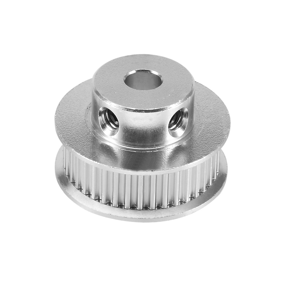 sourcingmap Aluminum GT2 5mm Bore Toothless Timing Belt Idler Pulley Flange w Ball Bearings for 3D Printer a17041300ux0113
