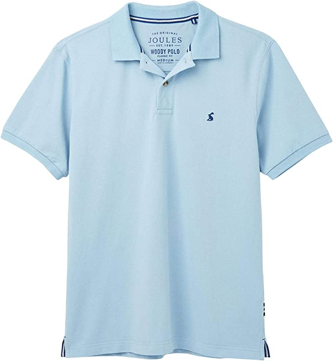Joules Woody - Polo de Manga Corta, Color Azul Claro: Amazon.es ...