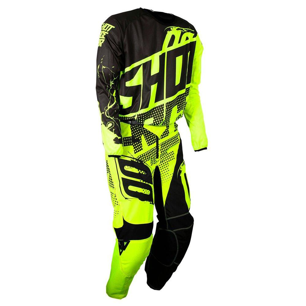 Shot Race Gear Youth Devo Kid Venom Neon Yellow Jersey/Pant Combo - Size Y-XLARGE/24W