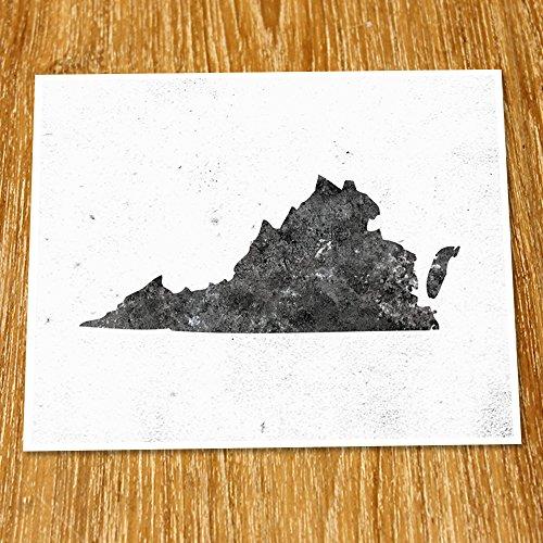 Virginia Map Print (Unframed), Minimalist Map Art, Scandinavian Map Poster, Industrial, Loft, Hipster, Living Room Decor, 8x10