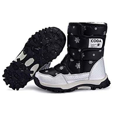 DoGeek Ragazza Stivali da Neve Inverno Scarpe da Neve per Bambini e Ragazzi  Ragazza Stivaletti Pelliccia 5a0f067a5f4