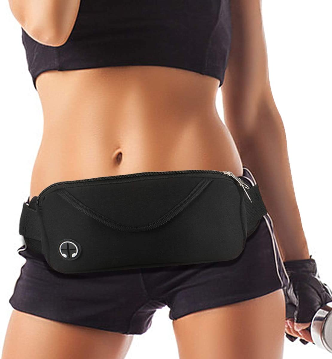 VASSN Running Belt Waist Pack Women Men Water Resistant Lightweight Running Pouch No Bounce Adjustable Sports Waist Bag for Fitness Workouts Cycling Travel Fanny Pack Carrying iPhone XR 8 7 6 6S