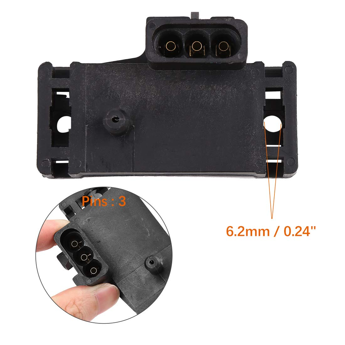 X AUTOHAUX Car Manifold Intake Air Absolute Pressure MAP Sensor 60811534 for Buick Cadillac Chevy GMC Jeep