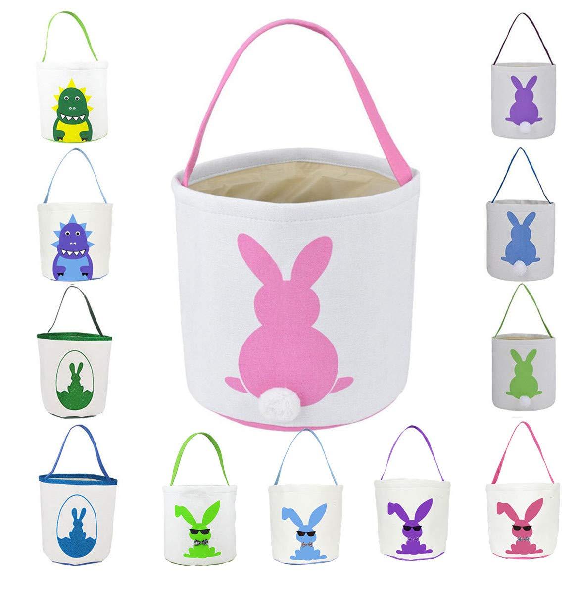 Amazon Com Easter Basket For Kids Easter Bunny Bag Easter Decorations Pink Baby