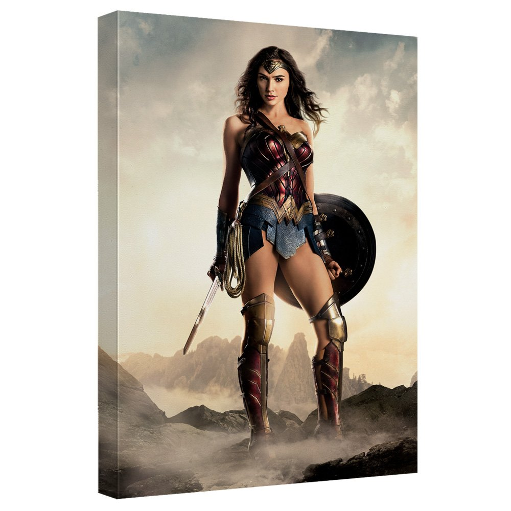 Wonder Woman -- Justice League Movie -- Stretched Canvas Framed Artwrap, 16x20