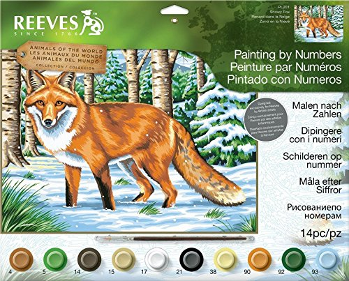 Reeves Large Acrylic Painting By Numbers - Snowy Fox