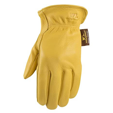 647d34ca224 Deerskin Driver Gloves, Full Leather Work and Driving Gloves, Large (Wells  Lamont 962L)