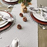 DII Solid Woven Table Runner, 13x72, Dove Gray