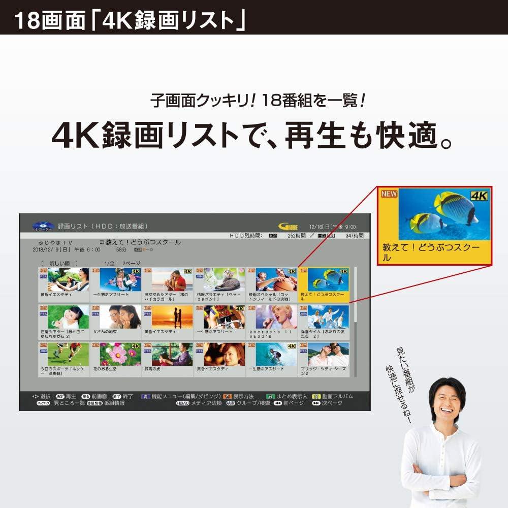シャープ ブルーレ イレコーダー 2TB 3チューナー 4Kチューナー内蔵 Ultla HDブルーレイ対応 AQUOS 430×229×65mm 4B-C20AT3