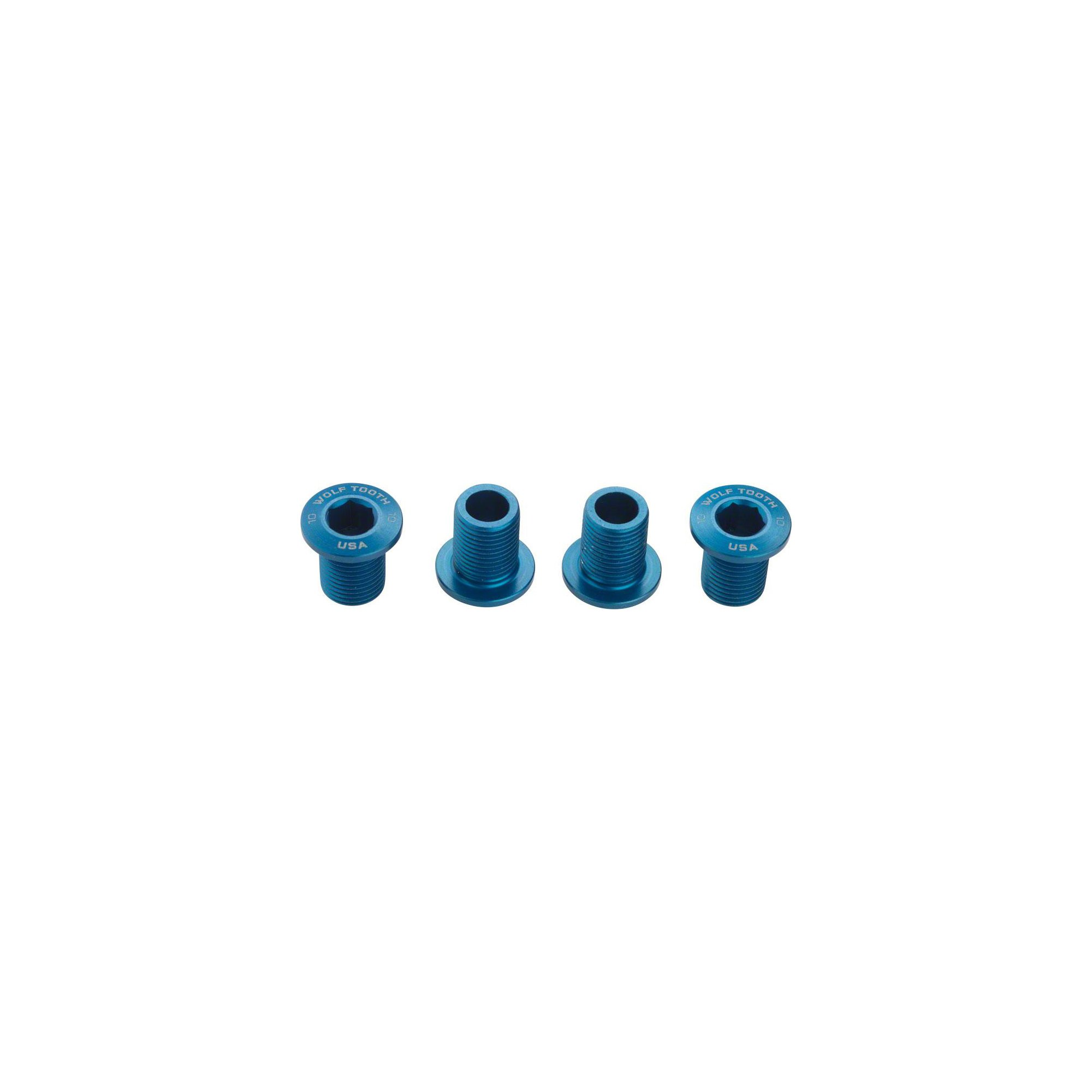 Wolf Tooth Components Set of Chainring Bolts for 104 x 30T Rings(10 mm long) by Wolf Tooth Components