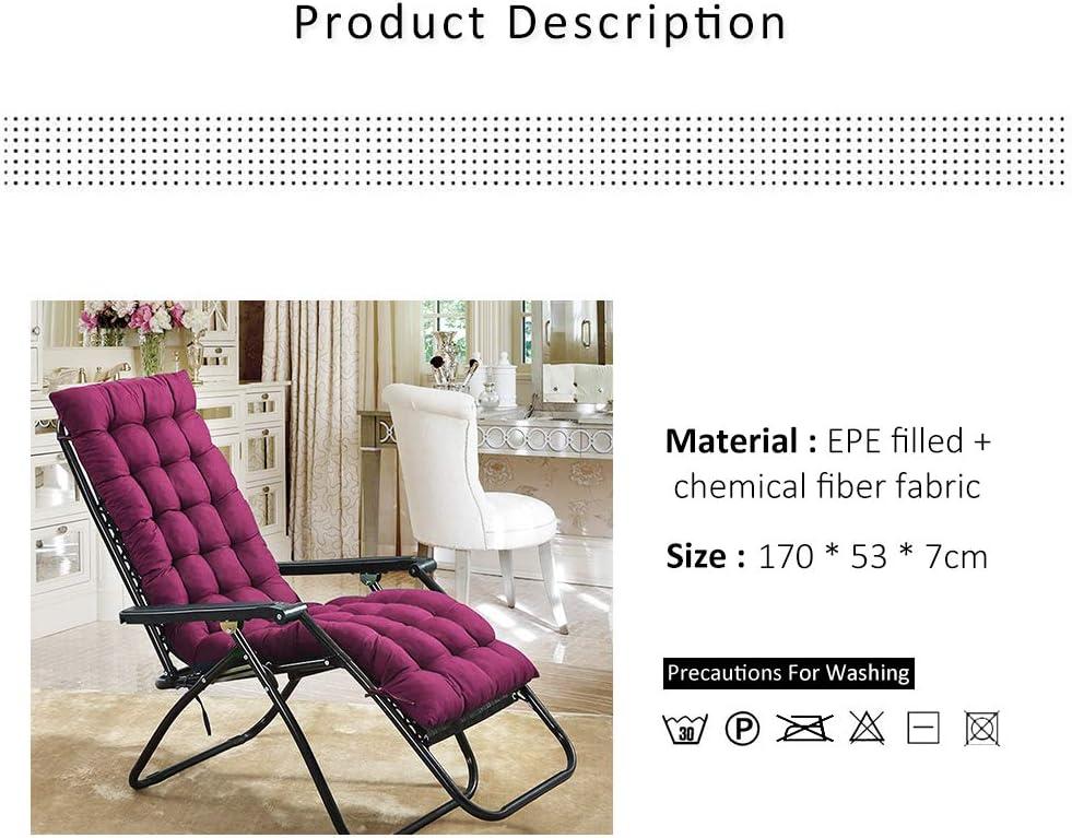 Coussin Bain de Soleil Lounge Chaise Fauteuil Transat Chaise Longue Jardin Doux /élastique avec Anti-Perte Chocolat