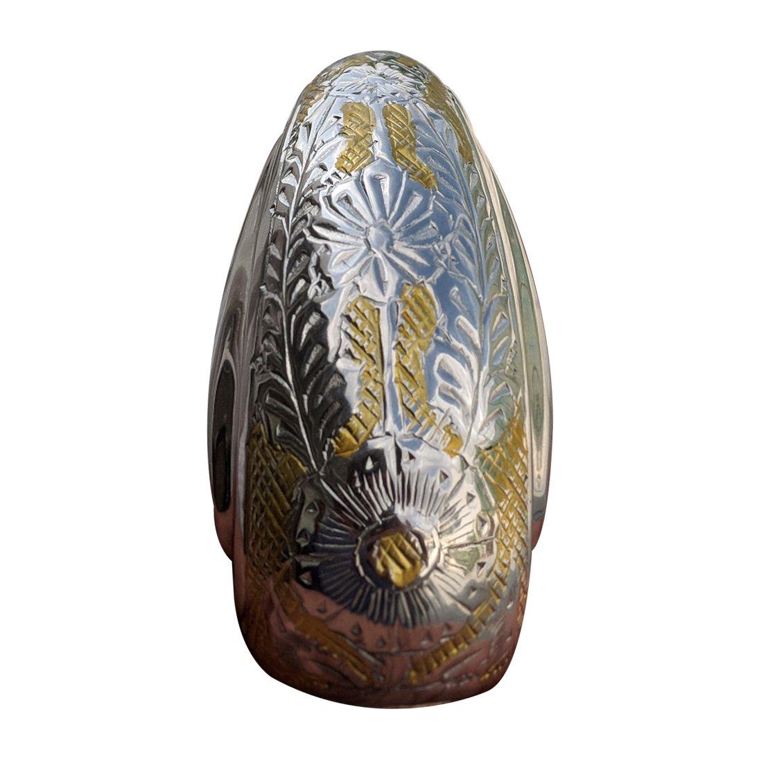 Home Decors Wattan Nickel Engraved Teardrop Small Keepsake Urn for Ashes, Mini Memorial Cremation Urn