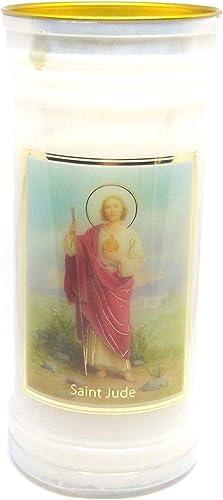 St. Jude Vela 72 Horas Oración Santo Católico 15cm Blanco: Amazon.es: Iluminación