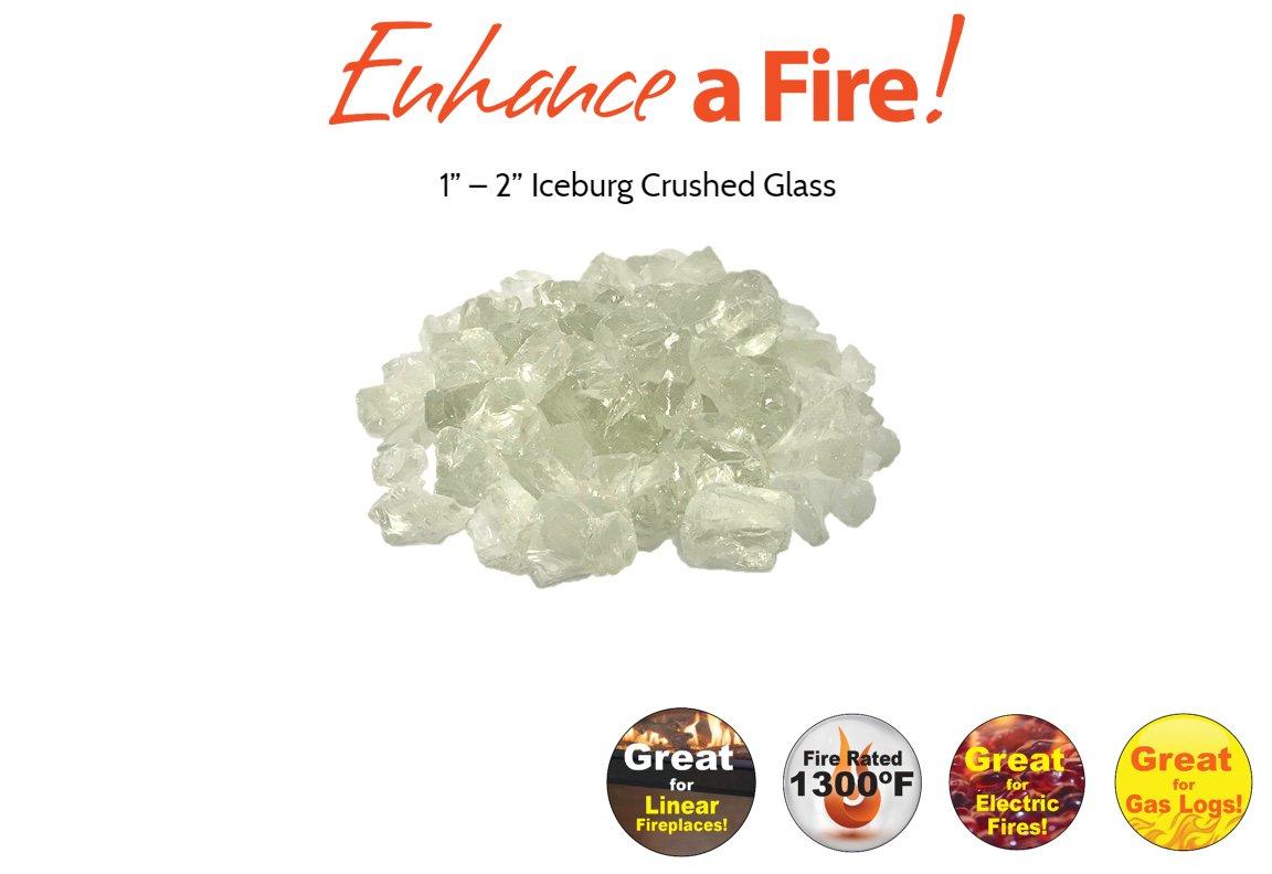 "Enhance A Fire! 1"" – 2"" Crushed Glass (Iceburg)"