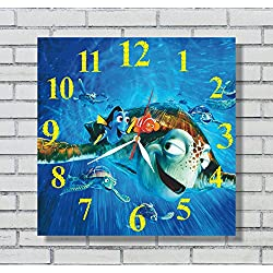 Finding Nemo 11.8'' Handmade Art Wall Clock - Get unique décor for home or office – Best gift ideas for kids, friends, parents and your soul mates - made of plastic