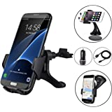 Wireless Car Charger Bundle - ZALE Wireless Charger Car Mount, Air Vent Phone Holder, QC3.0 Fast Charging Adapter Included, for iPhone Xs/Xs Max/X/8/8 Plus|Samsung Galaxy S9/8/7/Note 8 & QI Devices