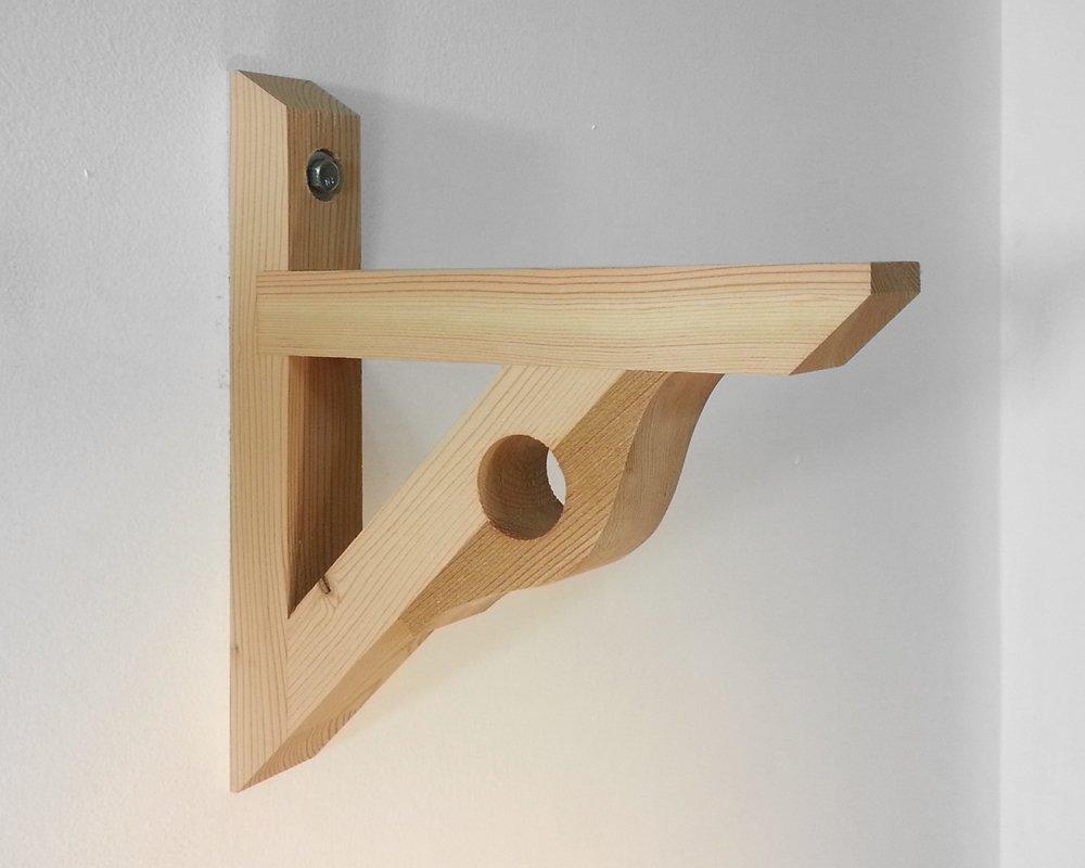 Amazon.com: Single Shelf/Curtain Rod Holder Bracket (S4108MK ...