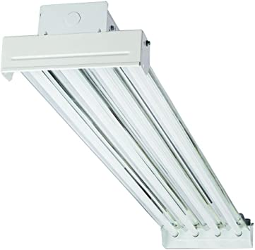 Lithonia Lighting Ibc454v Fluorescent Bay Light Fixture 54 Watt 4 Light T5 White High Output Amazon Com
