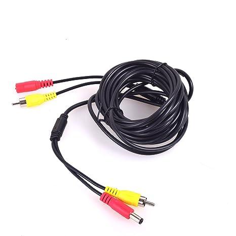Cocar Coche RCA CC Audio Vídeo AV Extensión Cable para CCTV Seguridad, Camión Autobús Tráiler