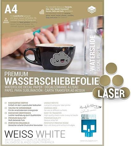 DECAL Pellicola Bianco per stampanti laser 1x White