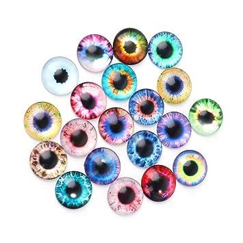 Mikiya 10 Paar Augen Sicherheit Glas Tier Spielzeug Glas Augen Sicherheit Augen f/ür amigurumi Puppen Puppet teddyb/är pl/üschtier