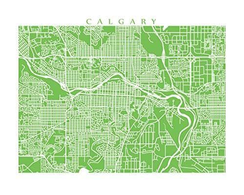 Amazon.com: Calgary Map Print: Handmade