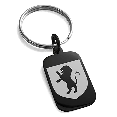 Amazon.com: Llavero de acero inoxidable con escudo de león y ...
