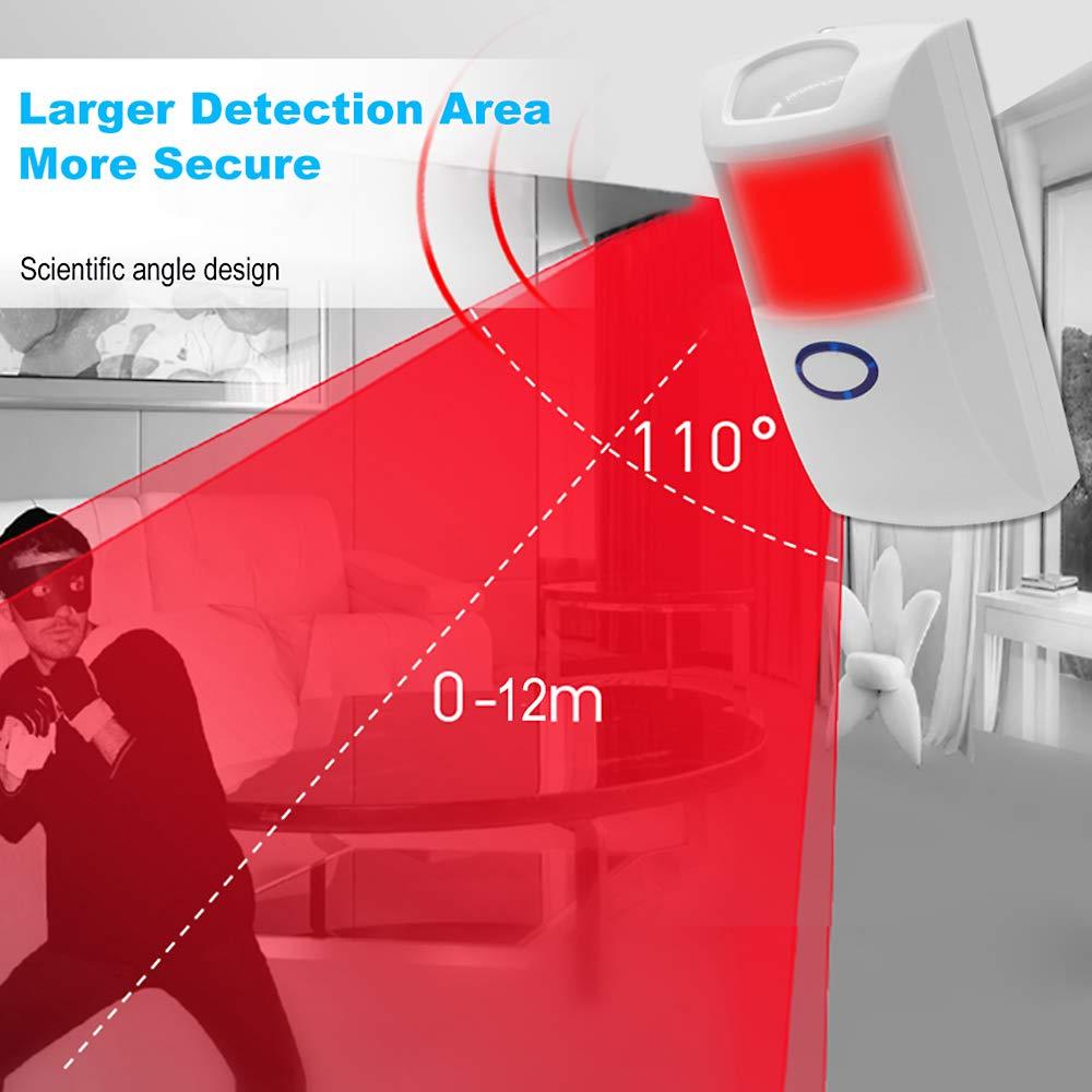 Festnight Sonoff PIR2 Sensor PIR autom/ático Detector de Movimiento inal/ámbrico IR infrarrojo Dual Sensor RF 433Mhz Sistema Alarma de Seguridad de automatizaci/ón para el hogar para Alexa