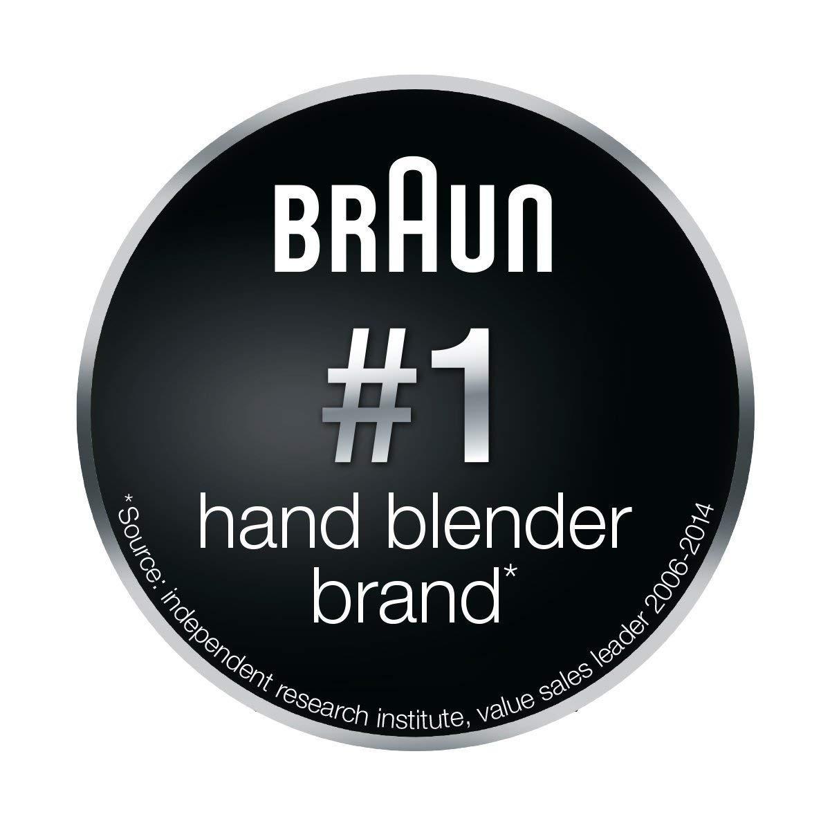 Braun MQ 100 Dip Batidora de inmersión, 450 W, Plástico, Gris y Blanco: Amazon.es: Hogar