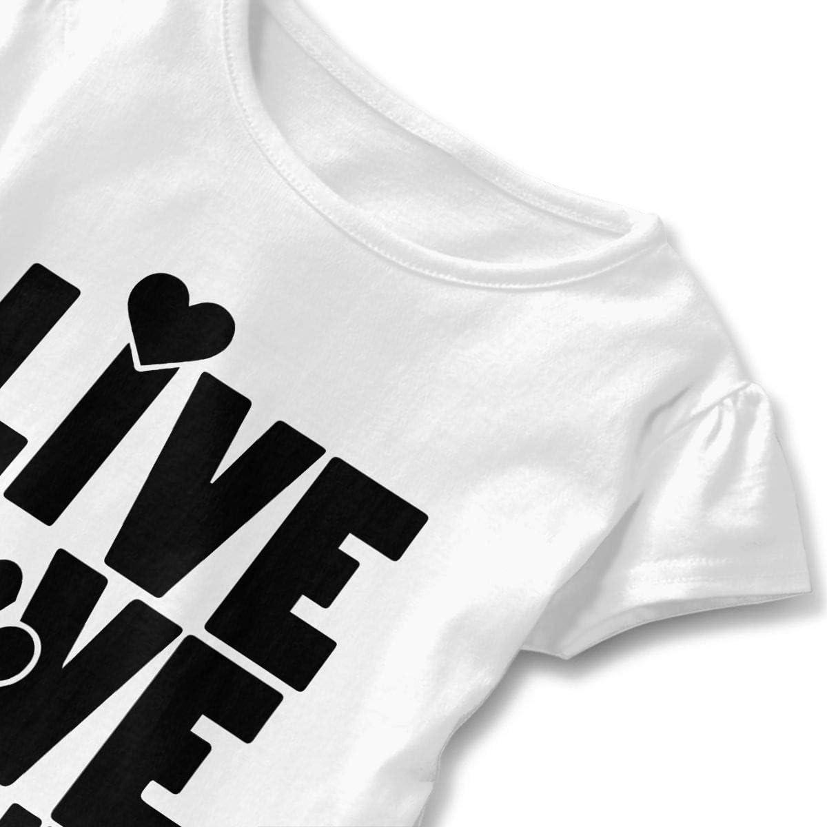 Live Love Rescue Animal Kids Children Round Collar Shirt Clothes