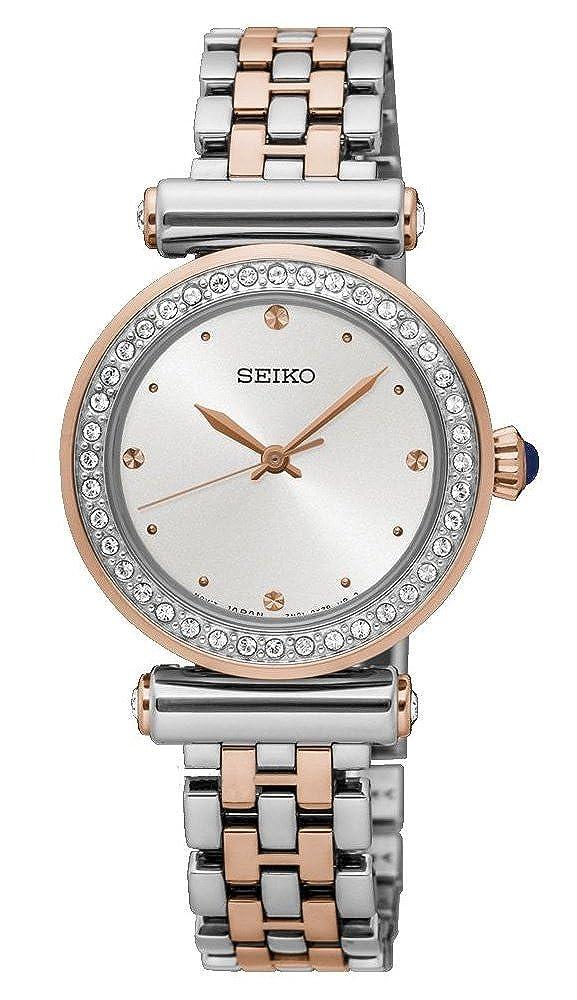 Seiko Reloj Analogico para Mujer de Cuarzo con Correa en Acero Inoxidable SRZ466P1: Amazon.es: Relojes
