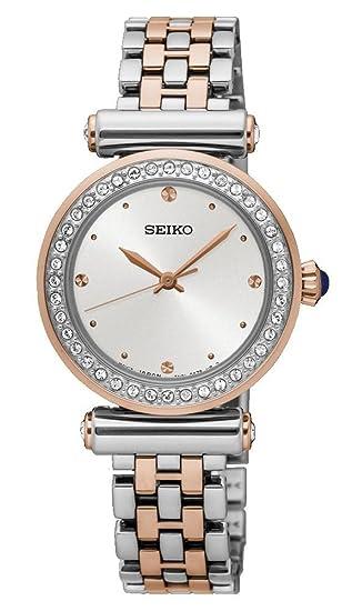 Seiko Reloj Analogico para Mujer de Cuarzo con Correa en Acero Inoxidable SRZ466P1