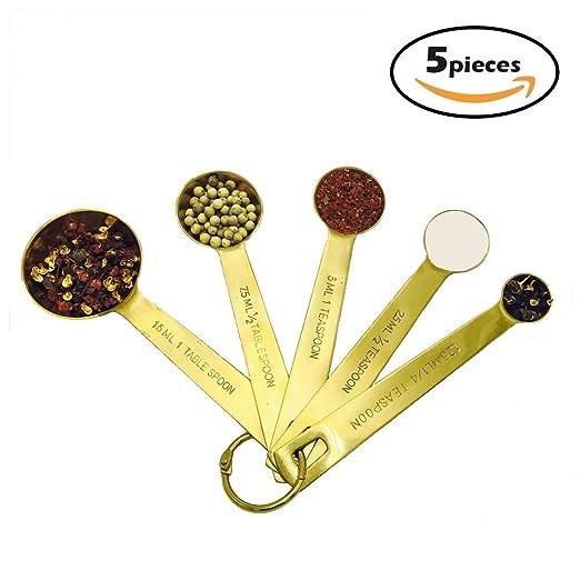 BangShou Golden juego de cucharas medidoras y tazas medidoras de ...