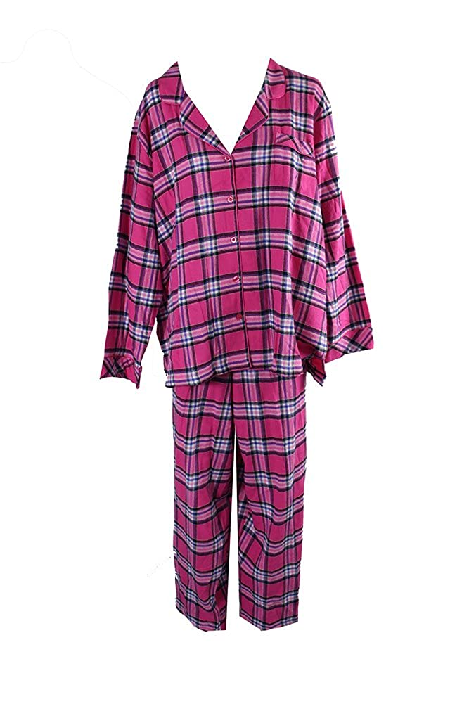 Charter Club Women's Printed Flannel Pajama Set 151101H716