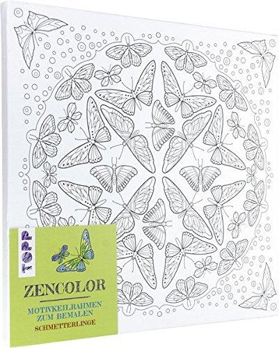 Zencolor Motivkeilrahmen Schmetterlinge: Motivkeilrahmen zum Ausmalen