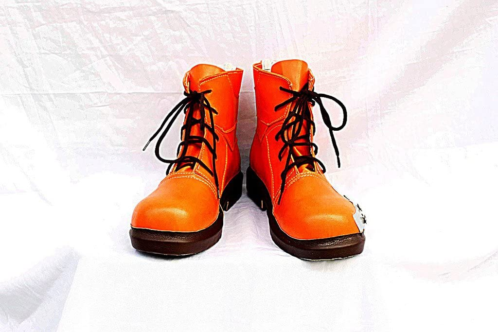 Telacos Final Fantasy VII FF7 Tifa Lockhart Cosplay Shoes Boots Custom Made Orange