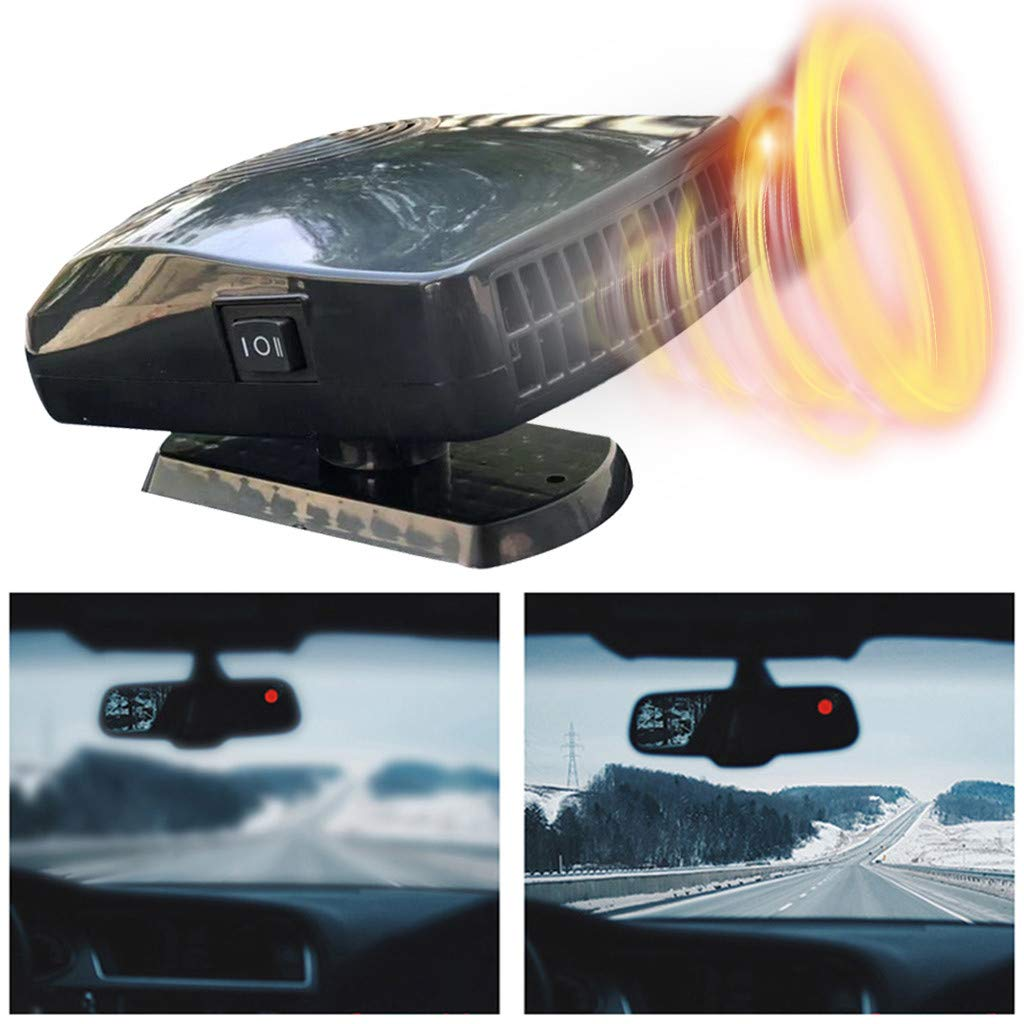 Car Warm Air-Conditioned Glass Defogging Defrost Heater Fan Windscreen Fan