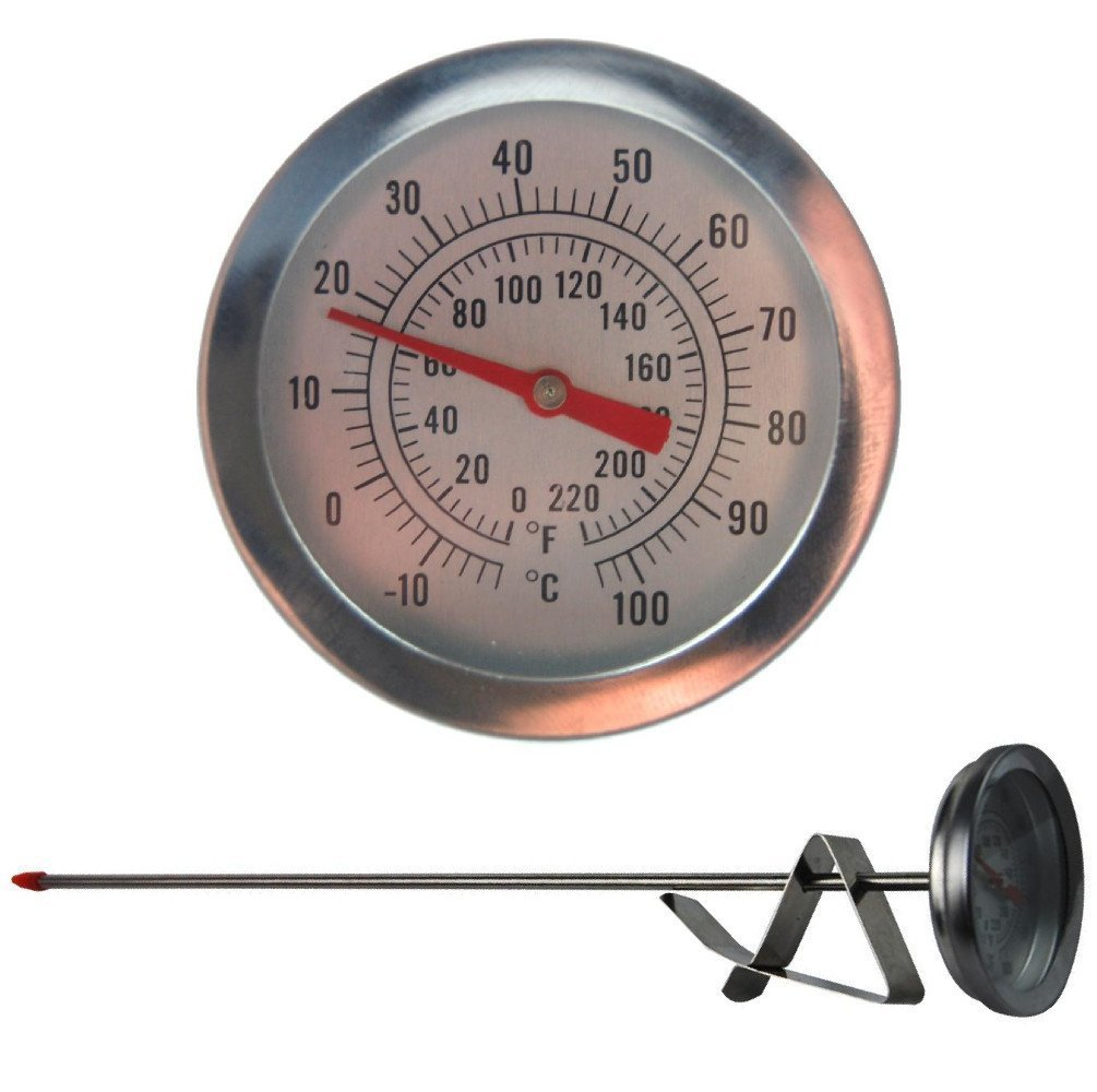 Home Brew Hydrometer and 300mm Brewing Dial Thermometer - Homebrew Equipment Pack Thermometer World