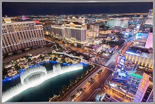 """Frame USA Vegas III Framed Print 24.0""""x36.0"""" by Moises Levy-MOILEV141269, 24x36, Metal Frame White"""