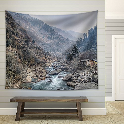 Mountain Landscape in Autumn Fabric Wall