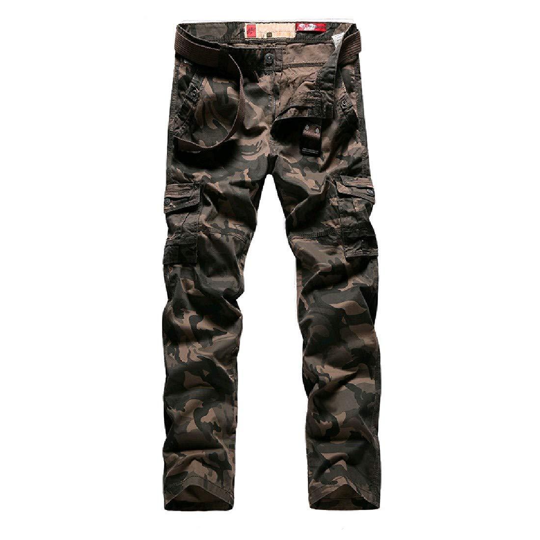 Khaki Doanpa Mens Oversize Oversize Oversize Pocket Trim Camouflage Straight Work Cargo Pants b24cb2